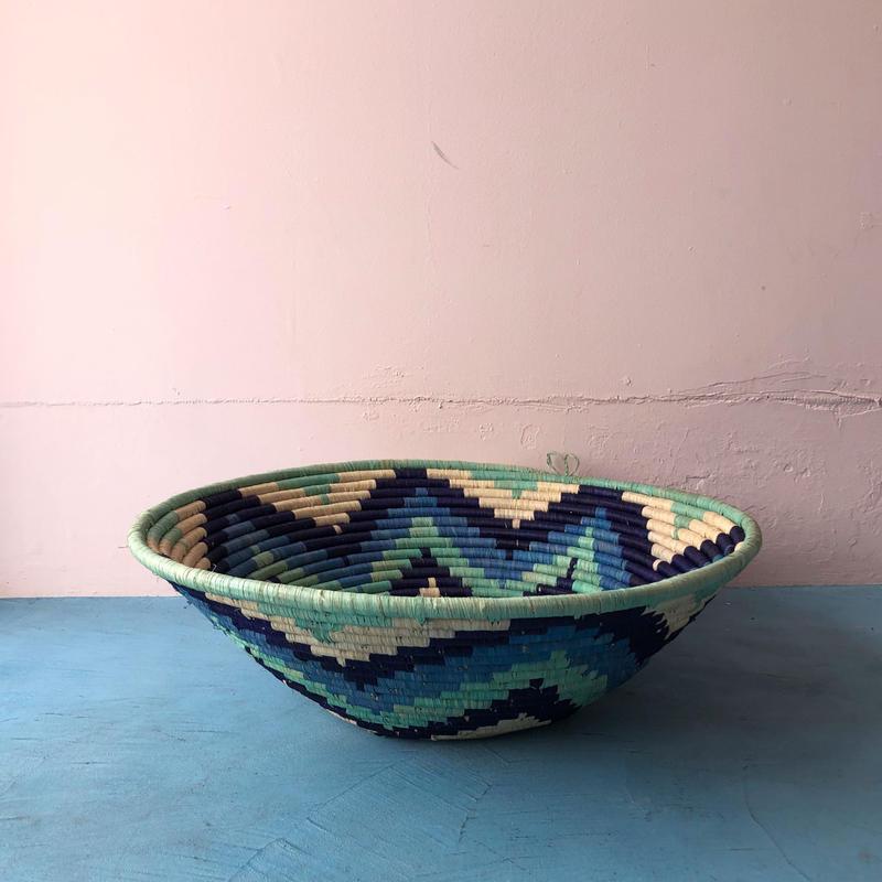 Raffia Basket / LL / Blue