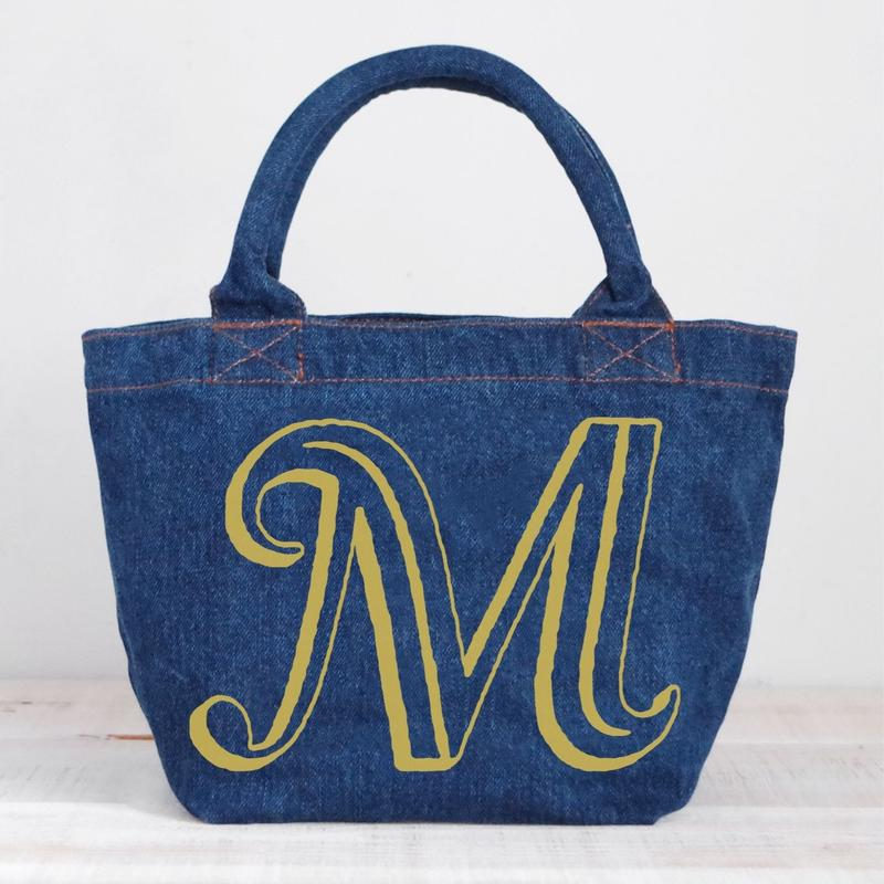 Organic Denim Tote M / Ginger Beach Inn Original