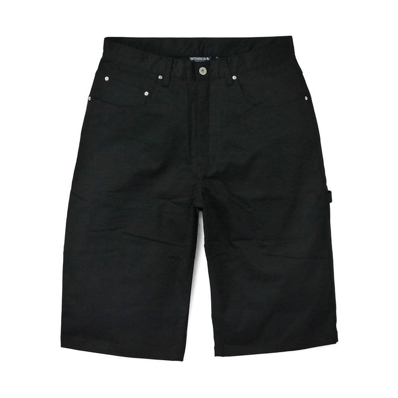 INTERBREED CROPPES PAINTER PANTS BLACK
