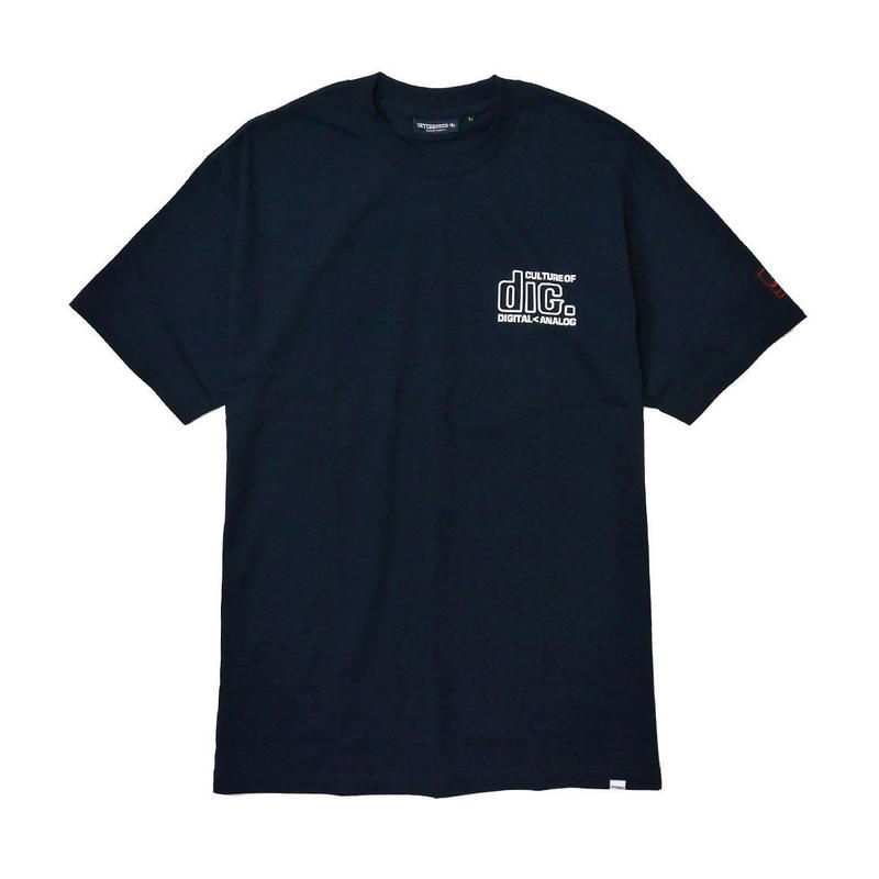 disk union × INTERBREED ''CULTURE LOVERS SS TEE'' NAVY