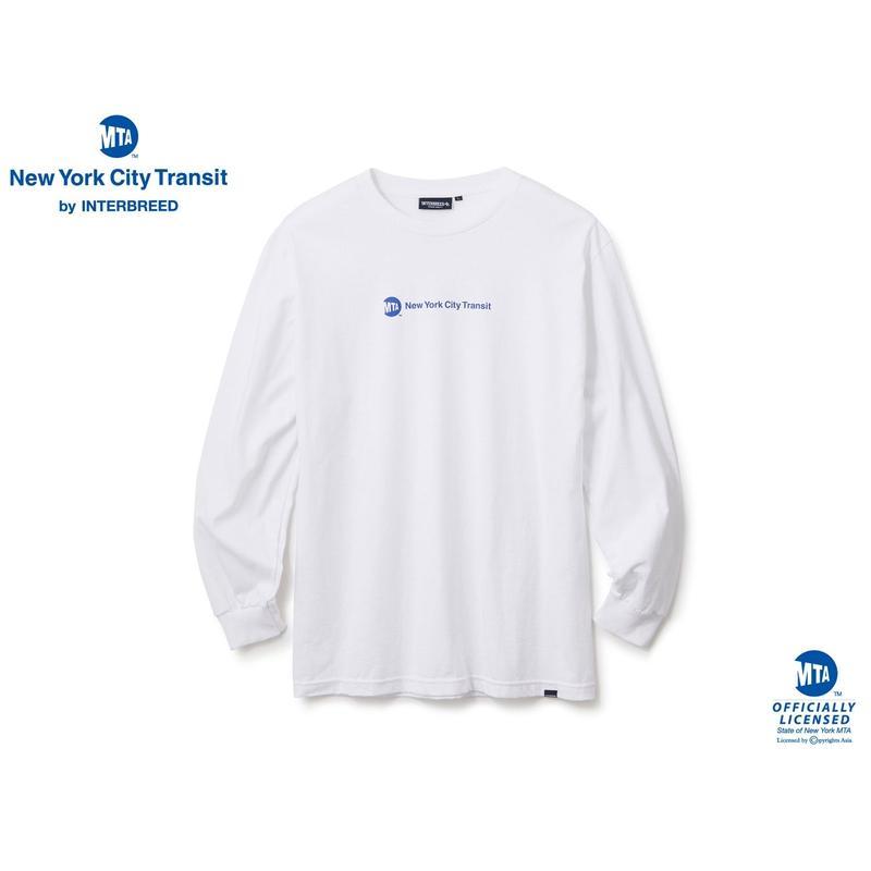 MTA X INTERBREED UNIFORM LOGO LS TEE WHITE