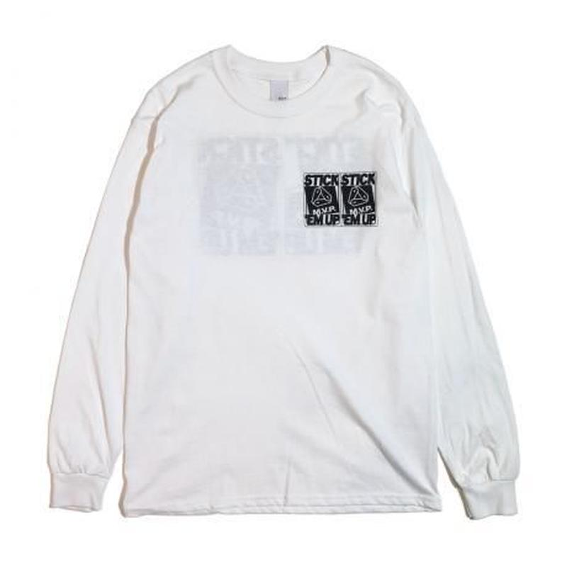 M.V.P. / x AEVIL LABELS IS HERE L/S TEE WHITE