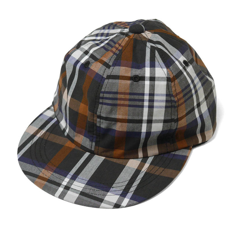 INTERBREED PATTERNED BALL CAP BROWN PLAID