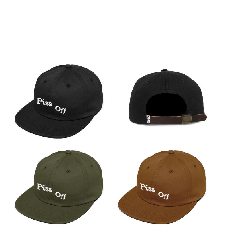 NOTHIN'SPECIAL PISS OFF 6-PANEL CAP BLACK