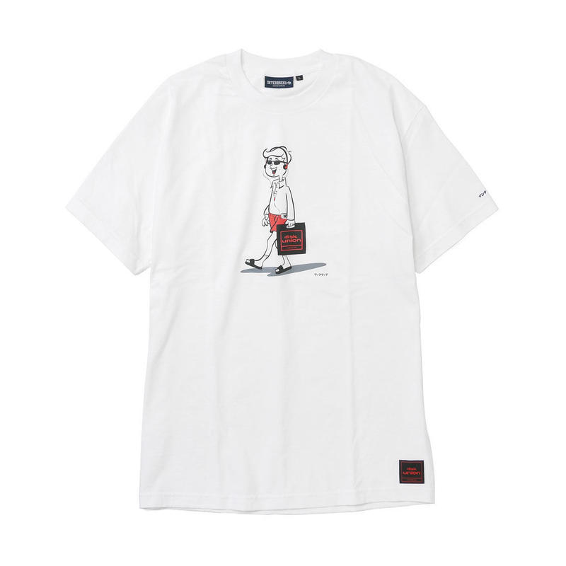 disk union × INTERBREED 'BEAT HOLIC'' SS TEE  WHITE