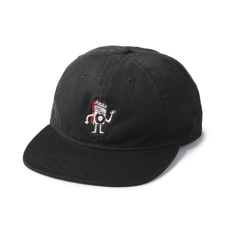 POLITO×INTERBREED  HELLO GEE PEE 3RD CAP BLACK