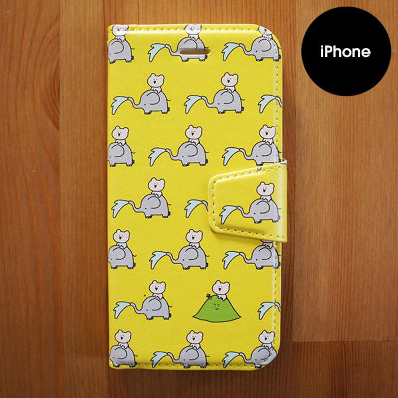 手帳型iPhoneケース「ぱおぱお」