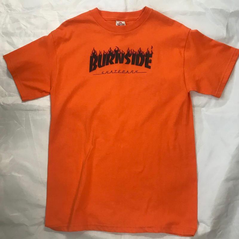 "Burnside ""Flame"" S/S Tシャツ(Orange/Black)"