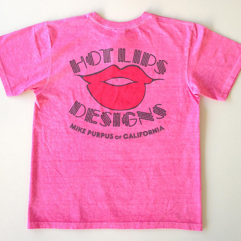 HOT LIPS DESIGNS TEE  チェリー