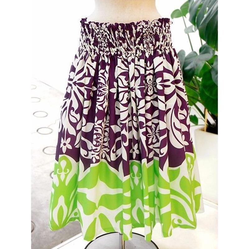 パウスカート フラダンス衣装 70cm/75cm丈 紫 PAUB0432