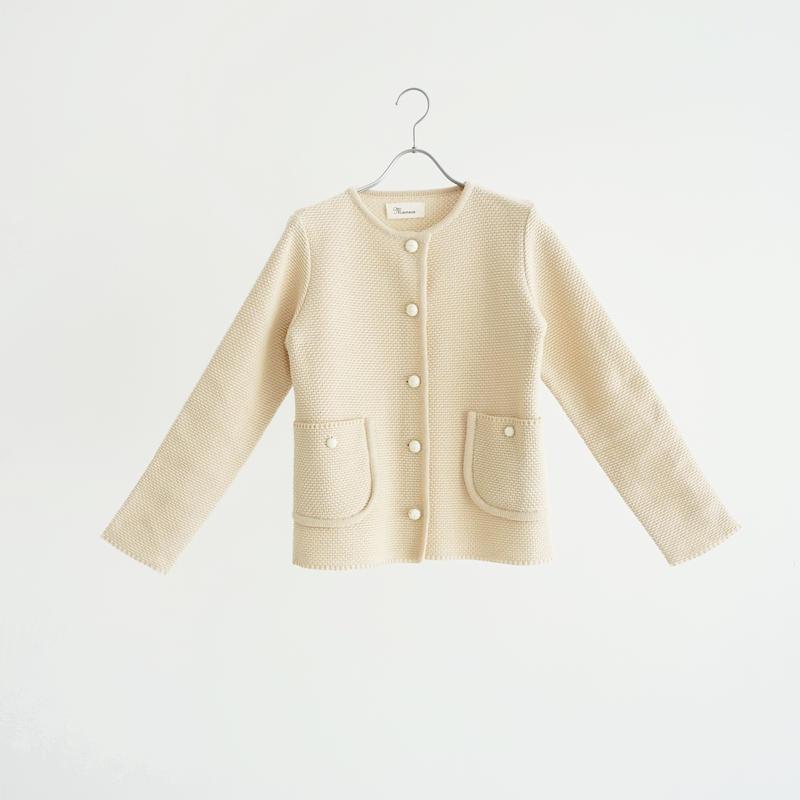 188818 コットン鹿の子ニットジャケット