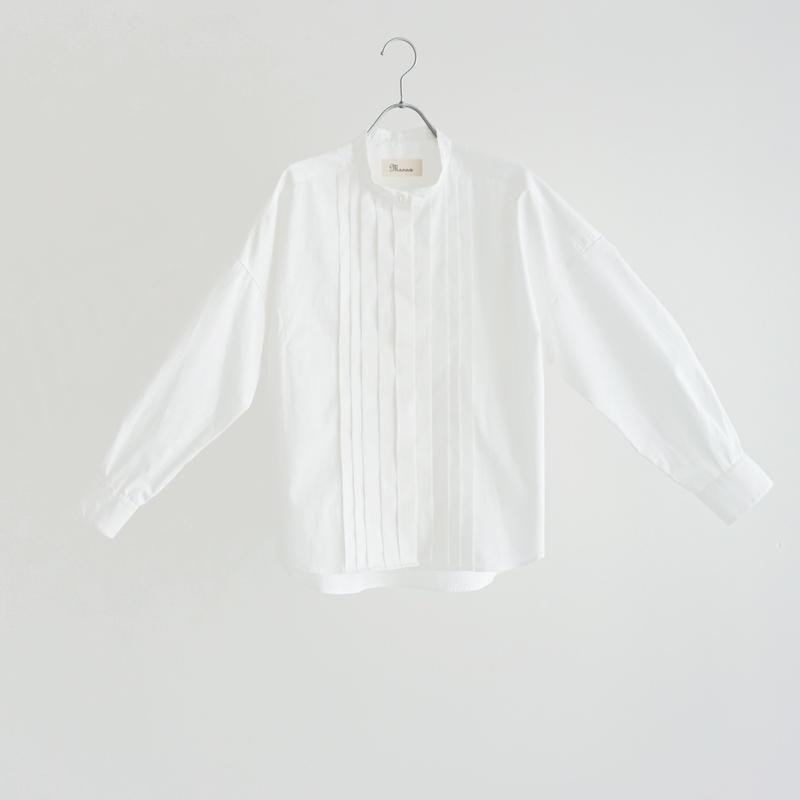 194010 プリーツスタンドカラーシャツ