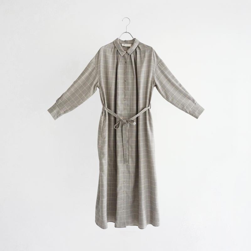 191007 チェックシャツワンピース