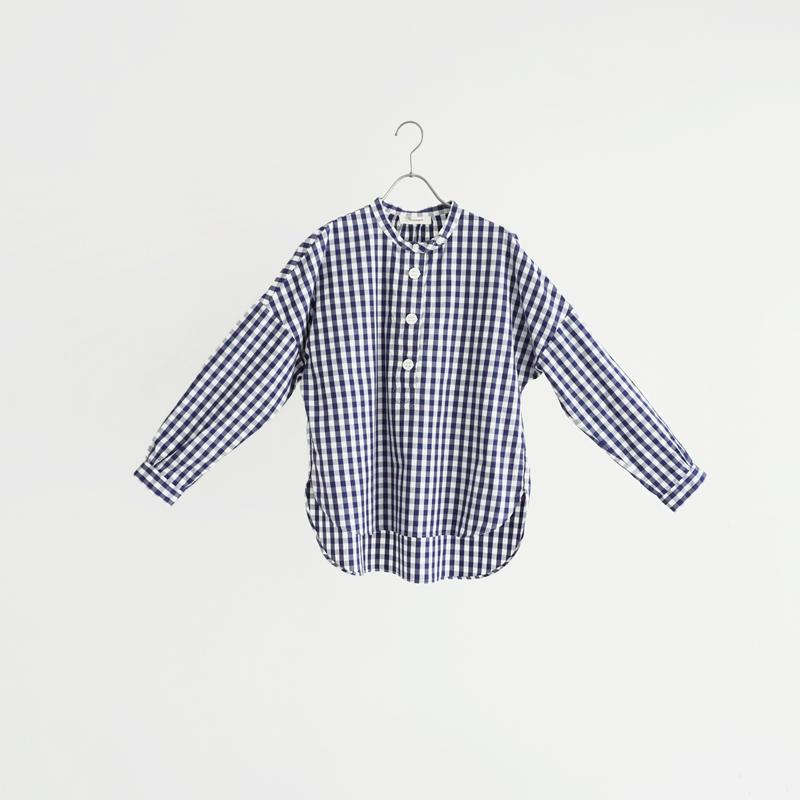 184817 パラシュート釦ヘンリーネックシャツ