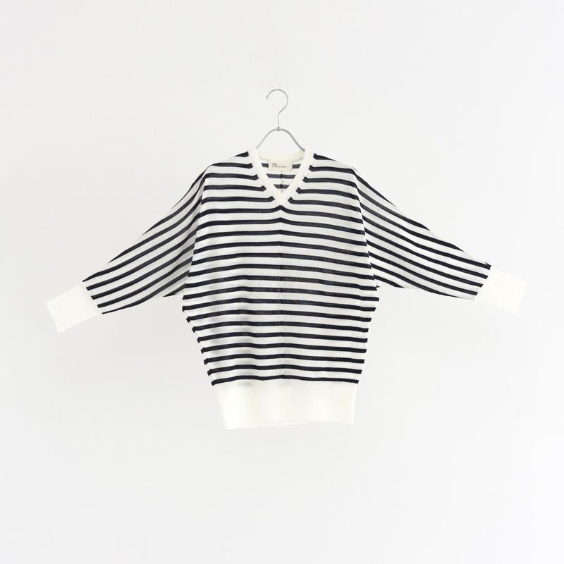 198522 ハイゲージウールVネックセーター