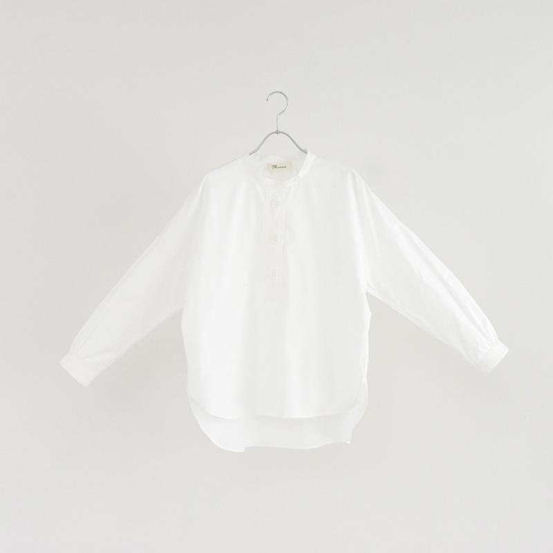 194505 ピンオックスパラシュートボタンスタンドカラーシャツ