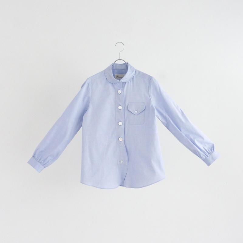 194506 ピンオックスパラシュートボタンラウンドカラーシャツ