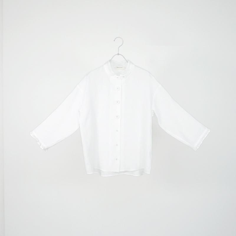 194330リネンスタンドカラーシャツ