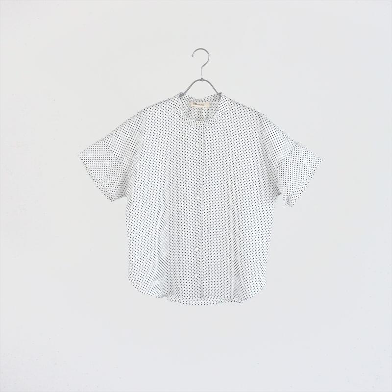 194333 ドットプリントシャツ