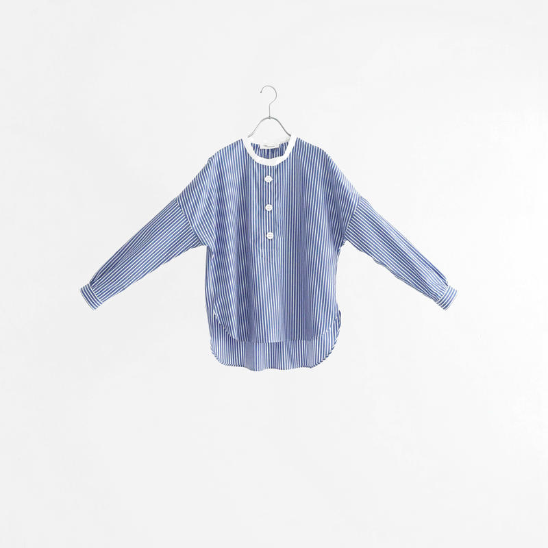 194012 ストライプヘンリーネックシャツ