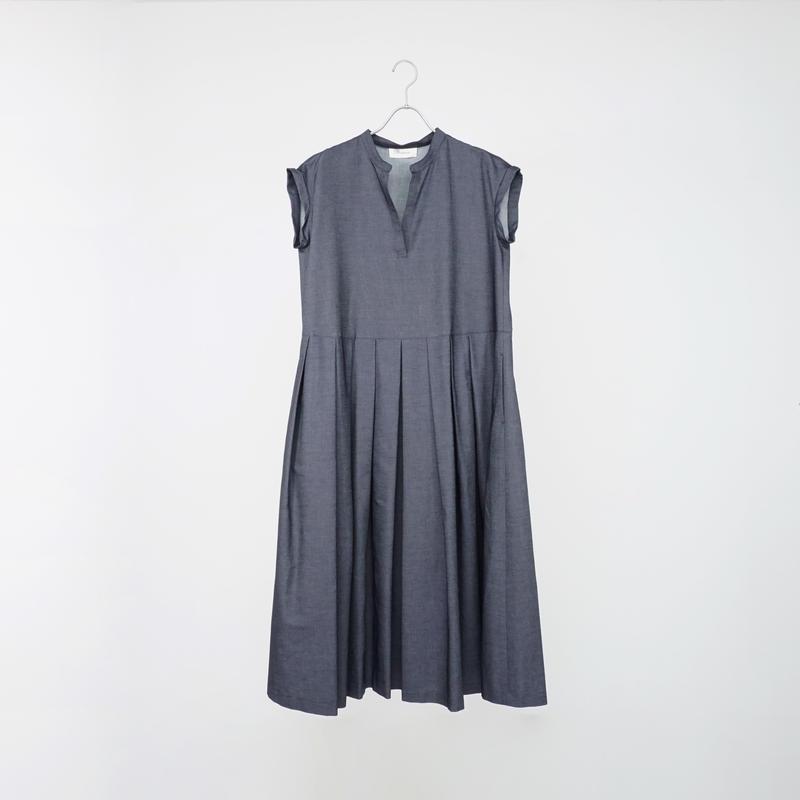 195339デニムスキッパーロングドレス