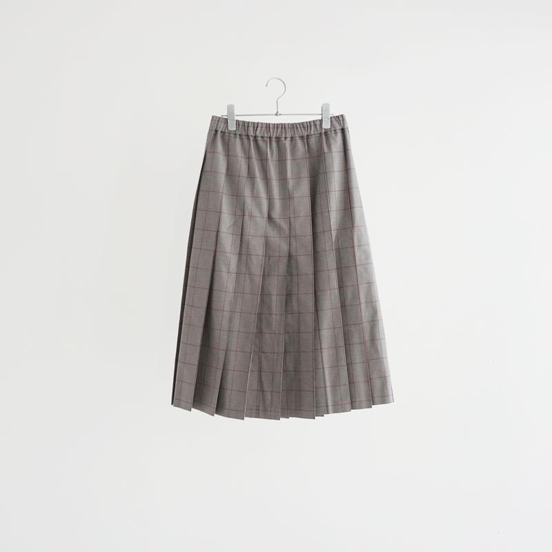 187813 オーバーチェックプリーツスカート