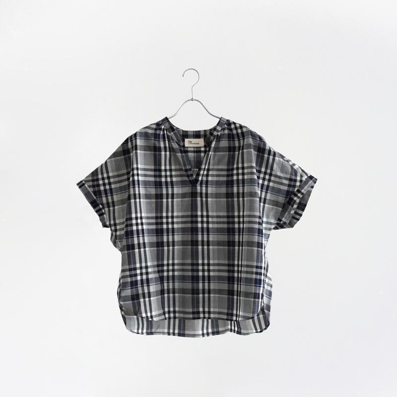 194302 タータンチェックスキッパーシャツ