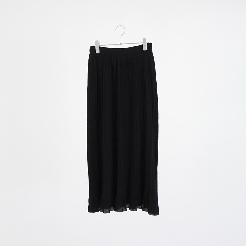 198343 ハイツイストコットンプリーツスカート