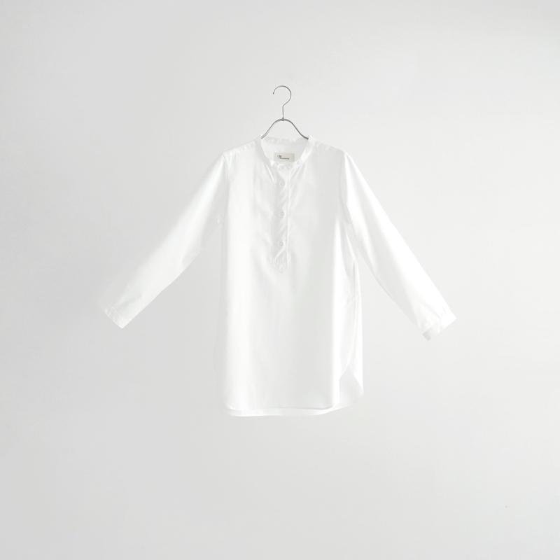 184019 パラシュート釦ヘンリーネックロング丈シャツ