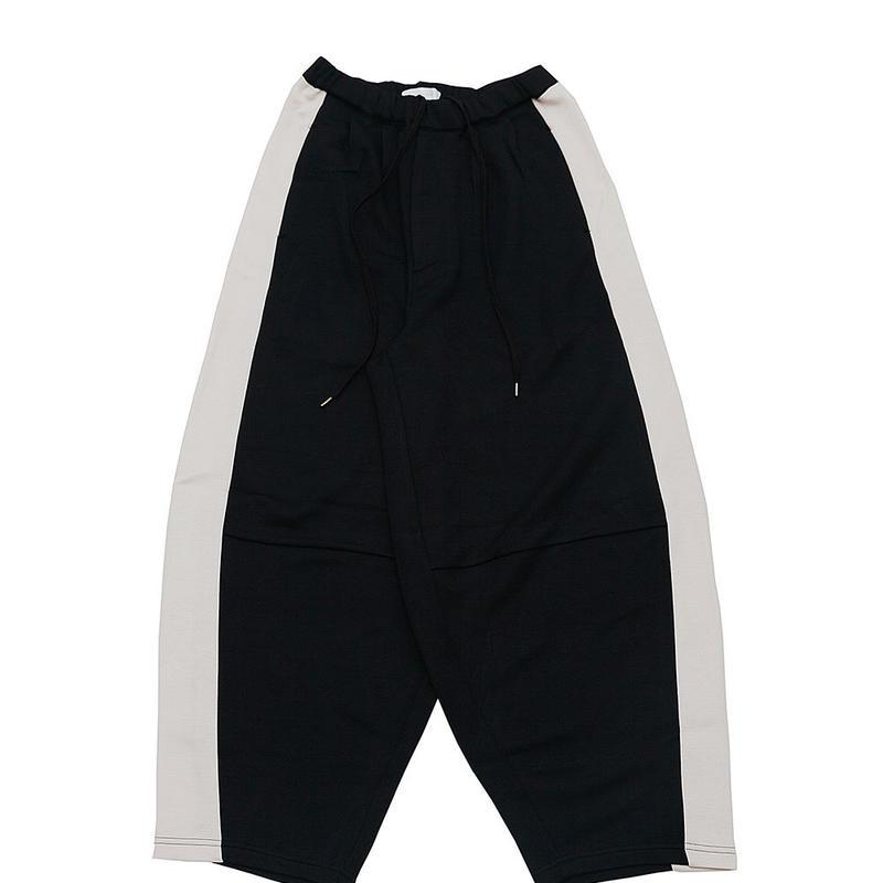 DONTSUKI / SIDE LINE WIDE PANTS (BLACK)