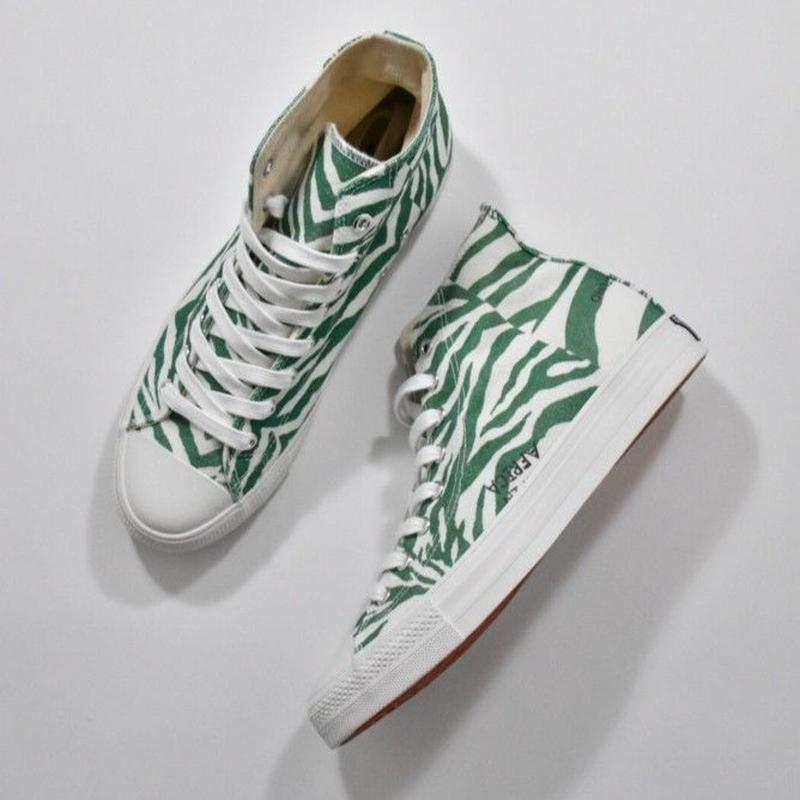 Black Weirdos / Crazy Zebra Sneaker-HI (GREEN)