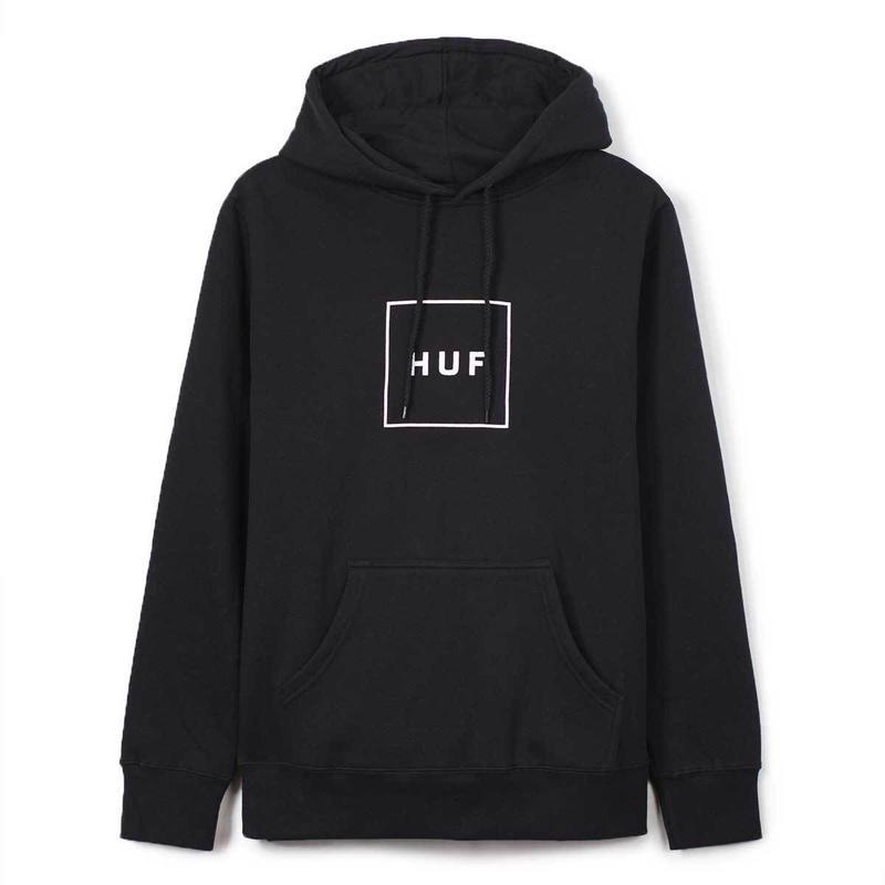 HUF / BOX LOGO PULLOVER FLEECE (BLACK)
