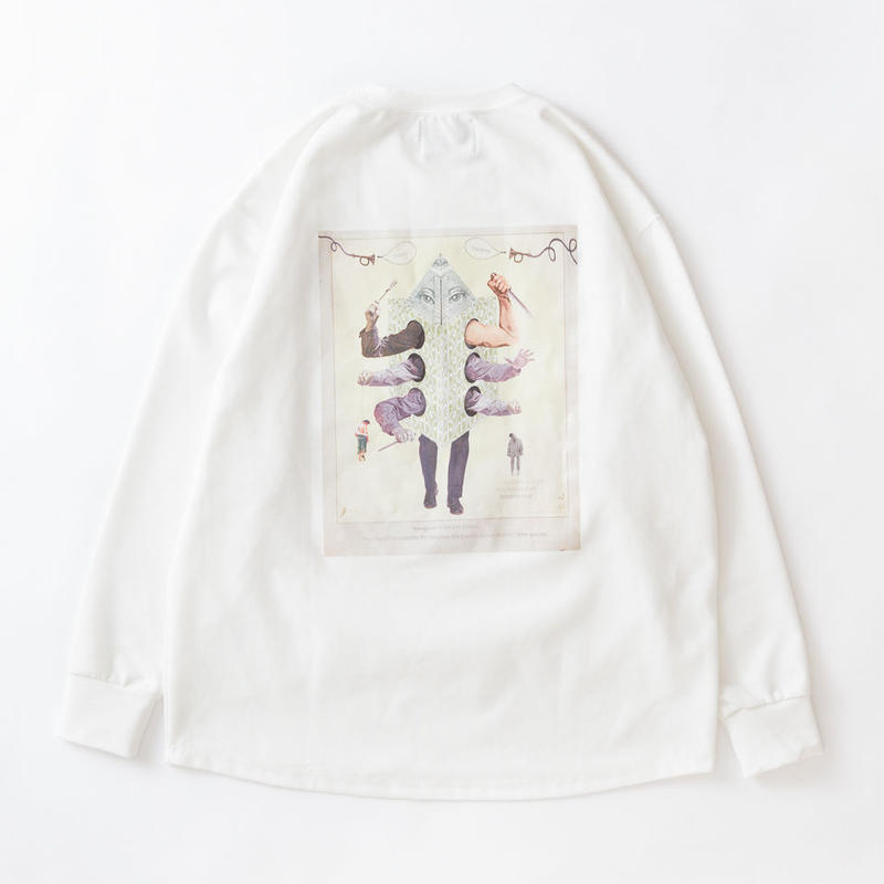 SON OF THE CHEESE / hey man crew LS (WHITE)