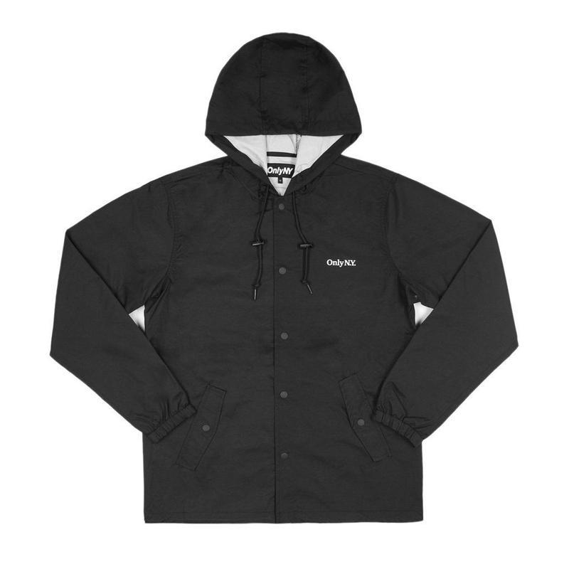 Only NY / Lodge Hooded Coach Jacket (Black)