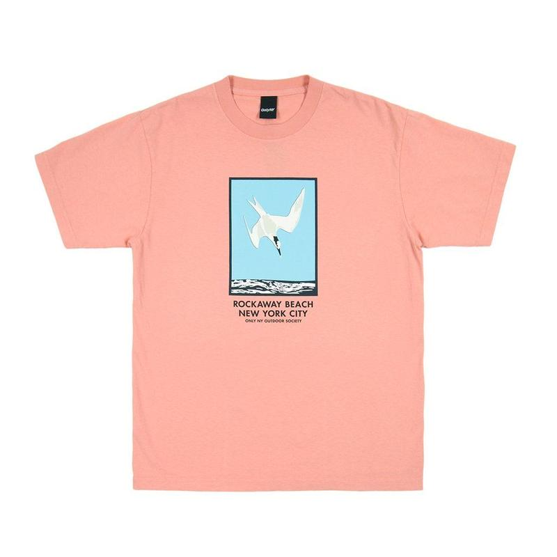 Only NY /  ROCKAWAY BEACH T-SHIRT(Coral)