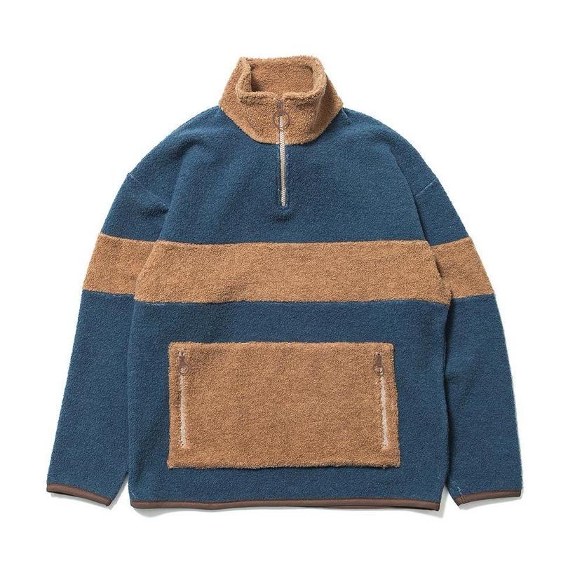 SON OF THE CHEESE / Fleece zip(BLUE)