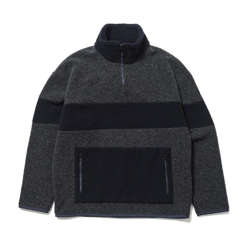 SON OF THE CHEESE / Fleece zip(GRAY)
