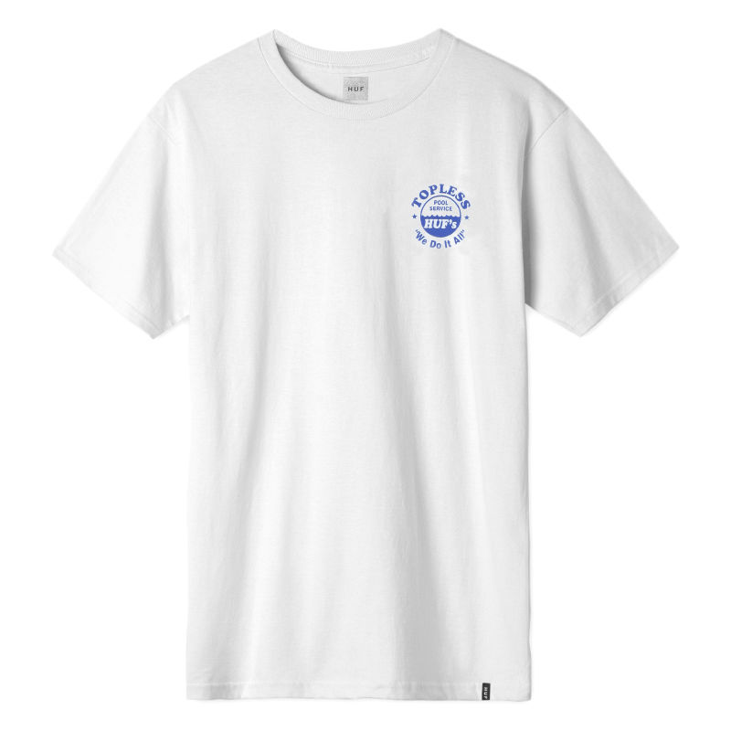 HUF / DRAINED S/S TEE WHITE