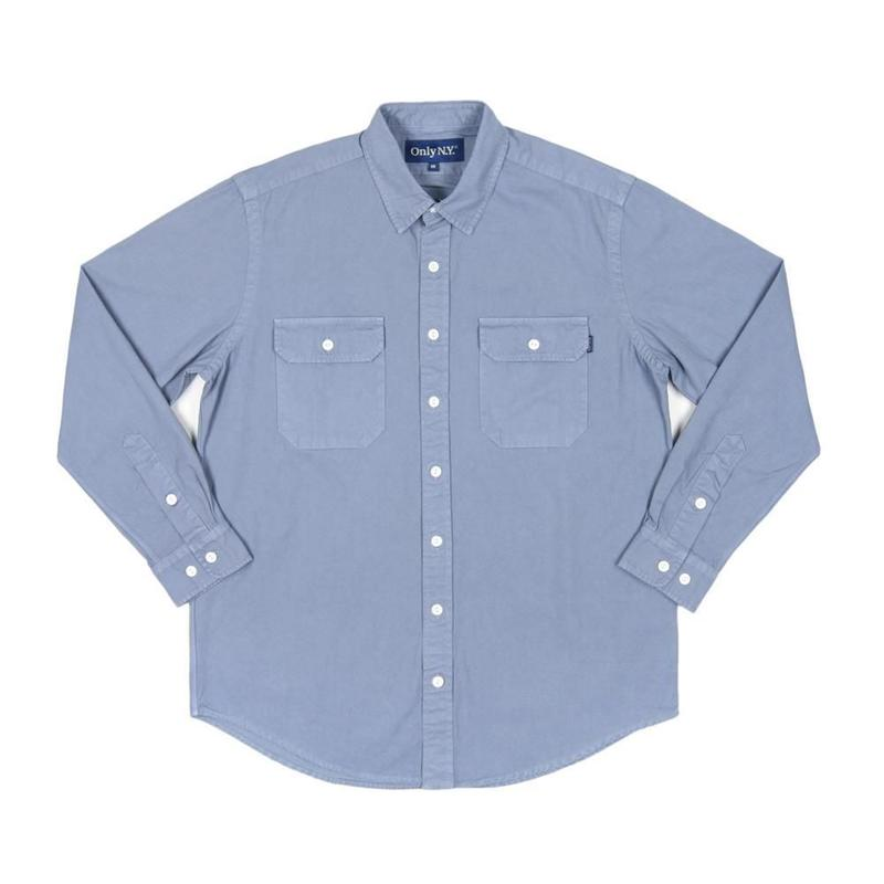 Only NY / Washed Cotton Beach Shirt (Bay Blue)