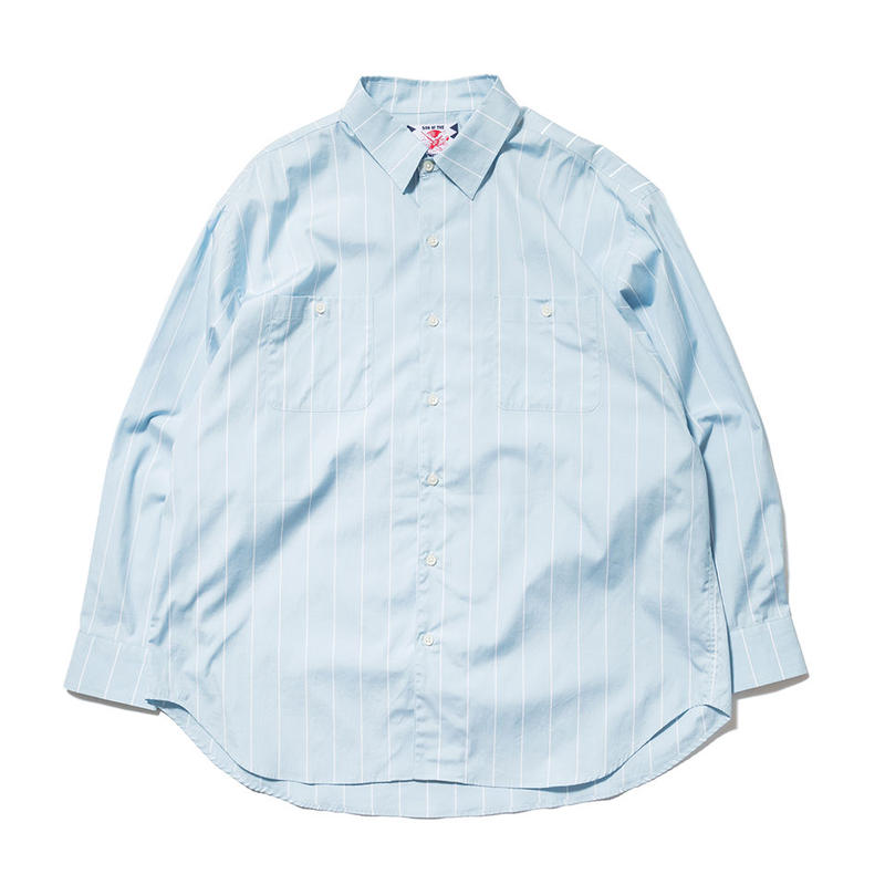 SON OF THE CHEESE / Big Stripe Shirt(BLUE)