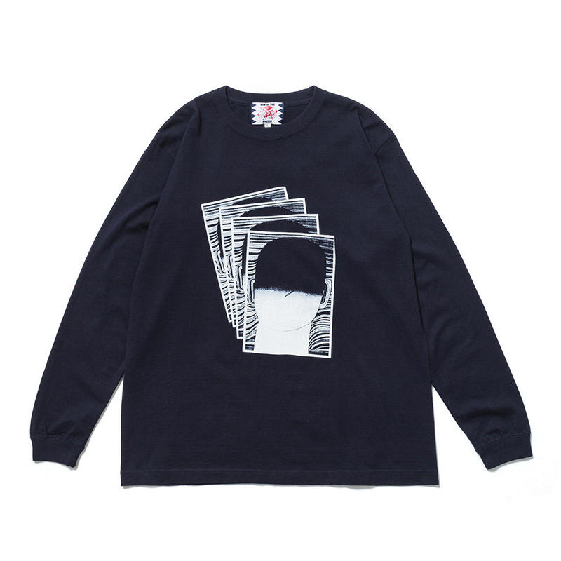 SON OF THE CHEESE / Face commu sleeve (NAVY)