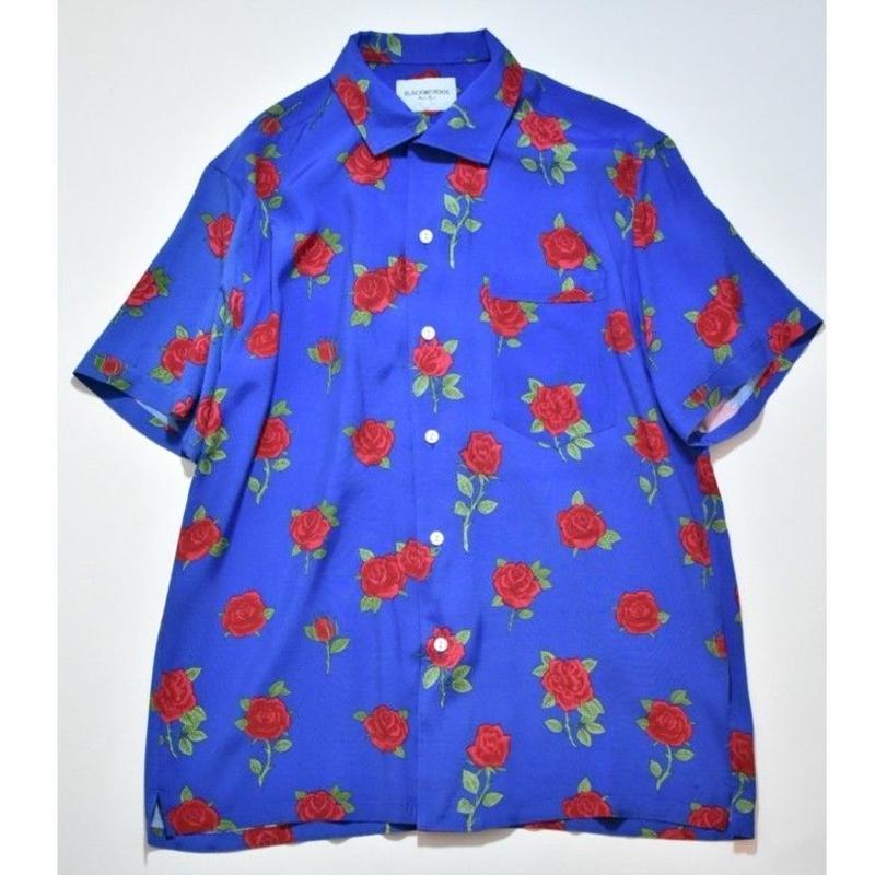 Black Weirdos /  RoseSkull Aloha Shirt (Royal Blue)