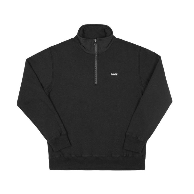 Only NY / Block Logo Quarter Zip Pullover  (Black)