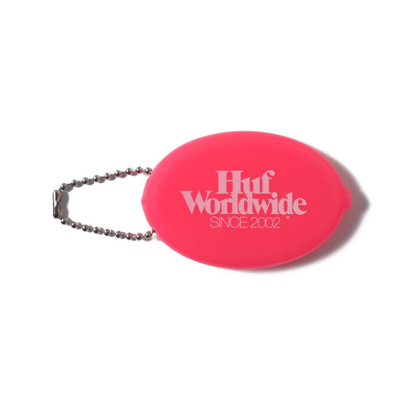 HUF / HUF WORLD WIDE COIN CASE FUCHSIA ROSE