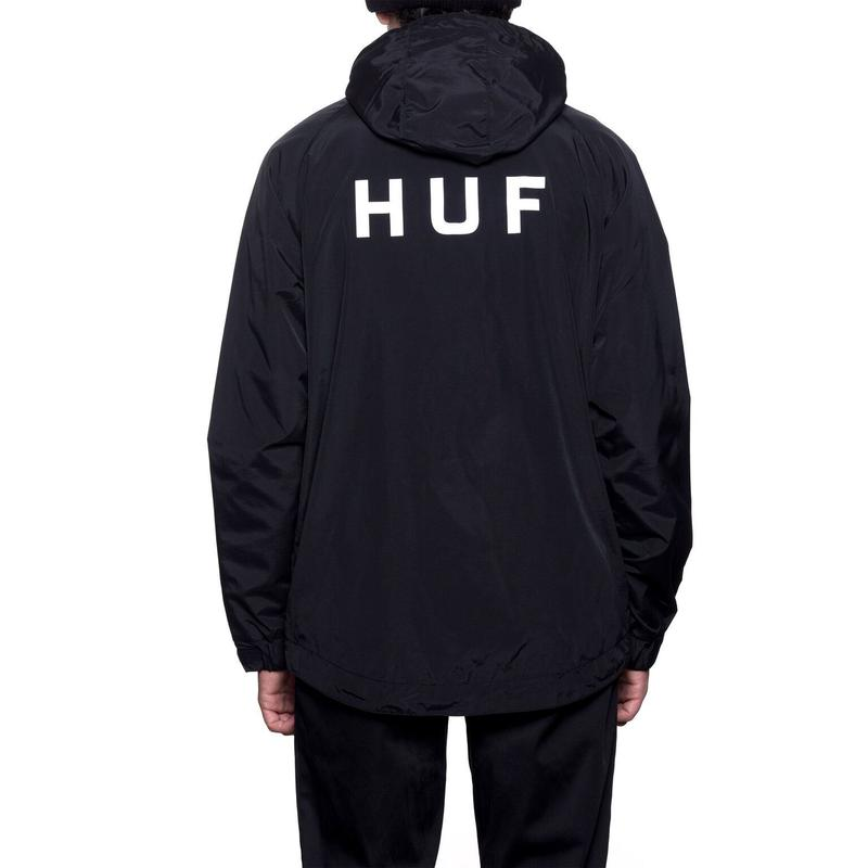 HUF  STANDARD SHELL JACKET (BLACK)