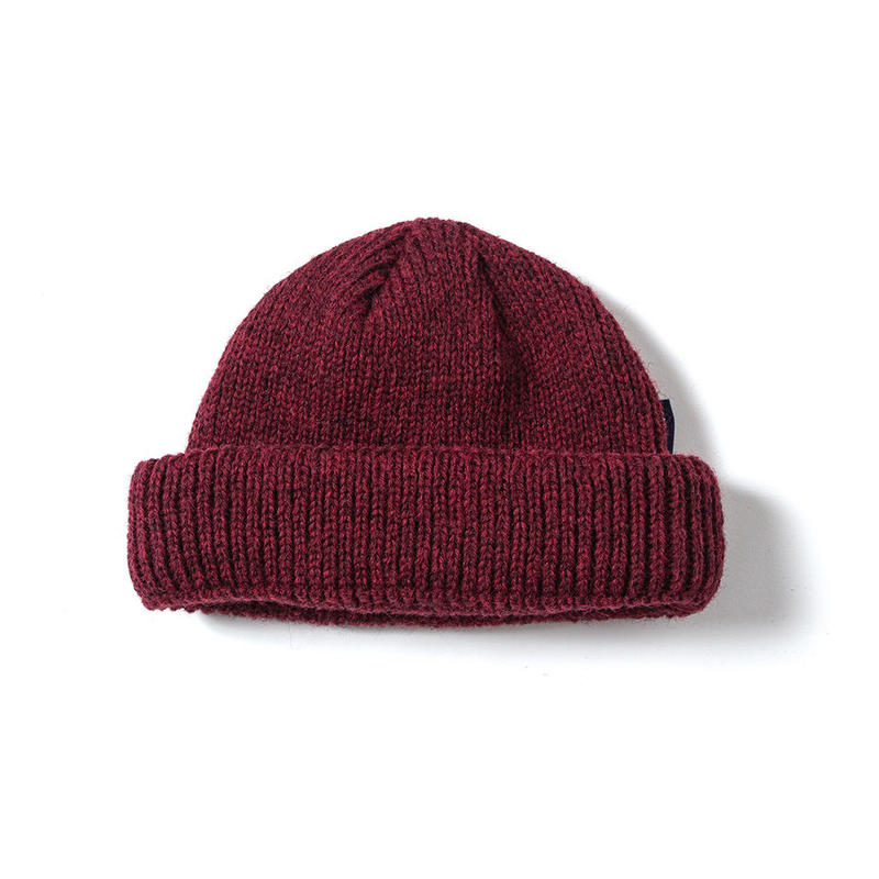 SON OF THE CHEESE / WOOL BEANIE short (WINE)