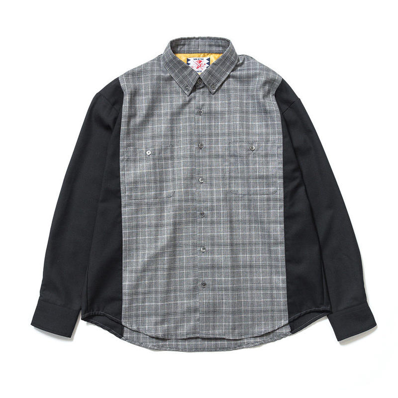 SON OF THE CHEESE / Two tone shirt (BLACK)
