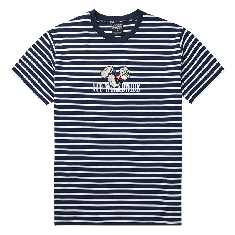 HUF / POPEYE S/S KNIT TOP (NAVY)