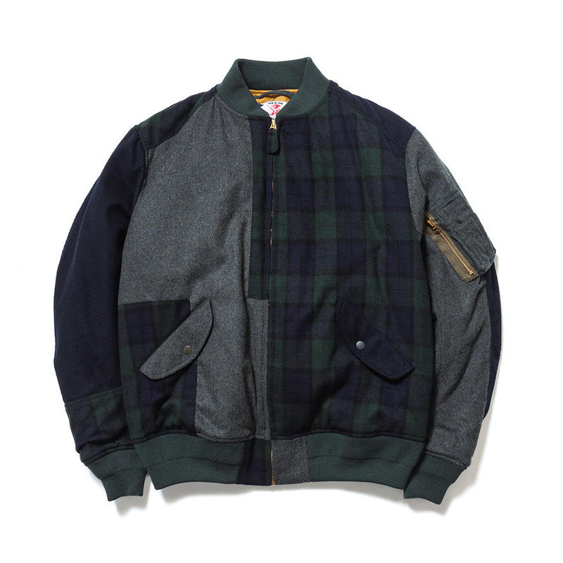 SON OF THE CHEESE / RAM PATCH WORK MA-1 (OLIVE)