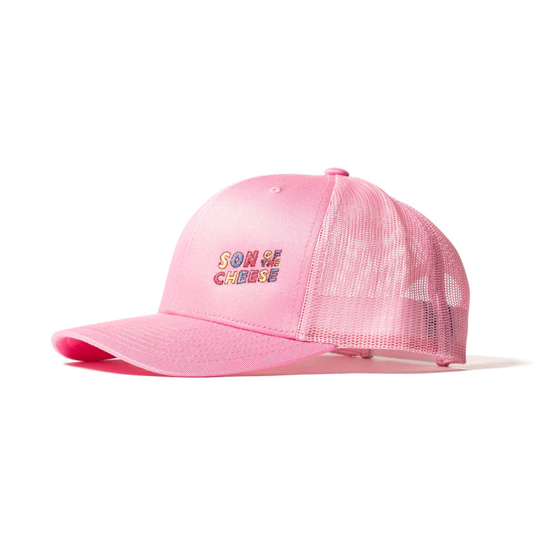 SON OF THE CHEESE / wavy SOTC MESH CAP(PINK)